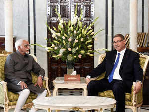The two sides discussed the issue of spreading tide of extremism and terrorism which is a threat both countries face, Ansari said at a joint press conference with Tunisia Prime Minister Essid.