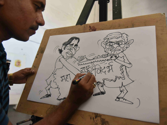 Khanduri says India's newspaper culture and cartooning are entwined and cartoonists are expected to critique all those in power.