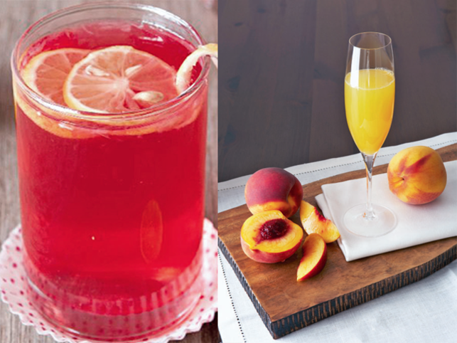 The Mughals used to have a drink of red wine from Shiraz mixed with rose sherbet. Mixing sherbet and wine may sound scandalous, but that is what a Bellini is.
