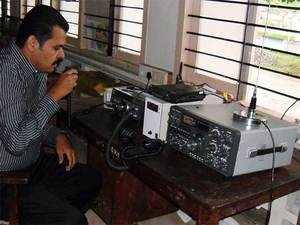 The ham radio workshop held for officials in Valparai.