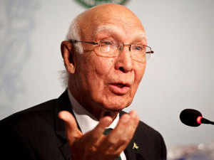 Answering a question about Indo-Pak ties in an interview to Samaa TV, Aziz said India has always tried to maintain its hegemony in the South Asia region.