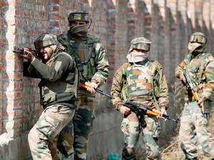 A group of militants attacked the CRPF party near Pampore causing injuries to twenty CRPF personnel.(Representative Photo)