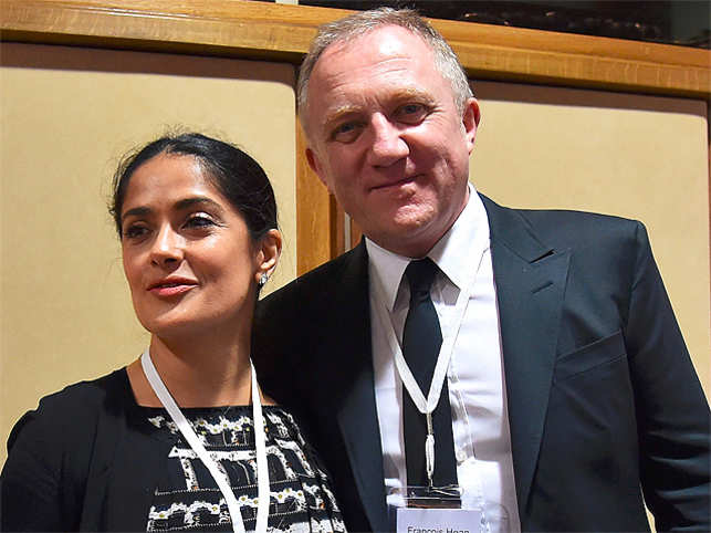 My husband's my angel:... Salma Hayek Husband Occupation