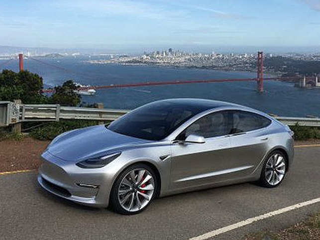 Tesla Model 3 has a starting range of more than 200 miles per charge and can go from zero to 60 miles per hour in just six seconds.