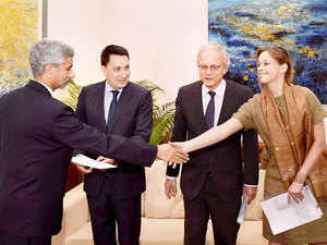 Foreign Secretary S. Jaishankar receives Missile Technology Control Regime (MTCR) membership papers.