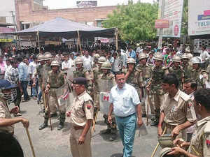 Aiming to maintain peace and prevent spread of rumours following the death of a person in police firing in Jaisalmer, authorities have banned mobile Internet services in the district along with Barmer, an official said today.