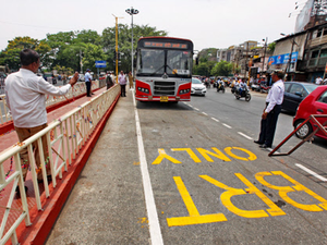 (Representative image) Among the key findings of WRI is that BRTS would drastically reduce two-wheeler and pedestrian fatalities.