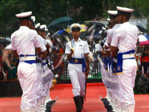 The passing out parade, conducted by NIAT Director Commodore Sanjeev Dureja, was reviewed by Rear Admiral Srinivas Kanugo, VSM, Assistant Chief of Naval Staff.