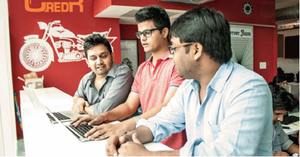 Sumit Chhazed (left), Nikhil Jain and Nitin Mittal, Co-founders, CredR
