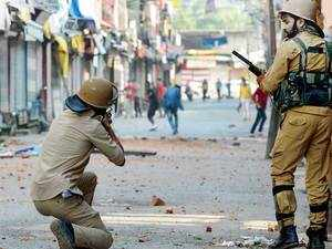 Pellet guns were first used in 2010 when protests engulfed Kashmir. The then National Conference (NC) government led by Omar Abdullah allowed pellet guns to be used for controlling furious mobs.