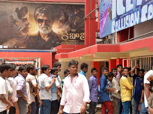 It was a sleepless night for most fans as they waited with bated to watch their 65-year old matinee idol Rajnikanth on screen.
