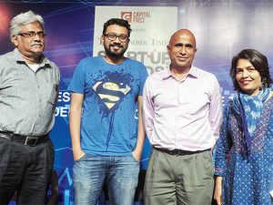 Panelists for ET Startup Sward-2016 roundtable: (From left to right) Hari Menon, Aprameya Radhakrishna, K Ganesh and Bharati Jacob