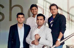 (From left) Anant Bisht, Mayur Karwa, Neeraj Choudhary & Ankush Karwa, co-founders of eShopBox.