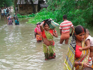 With several rivers in spate, 12 districts have been flooded, affecting over 27.50 lakh people spread over 200 lakh hectare area, Disaster Management Department said.