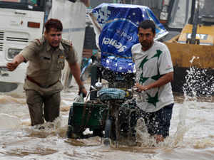 The rain on Thursday provided relief from the prolonged summer heat and augured well for expectations of a normal monsoon this year.