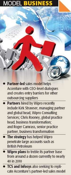 Wipro, TCS, Infy plan to follow rival Accenture's sales model - The