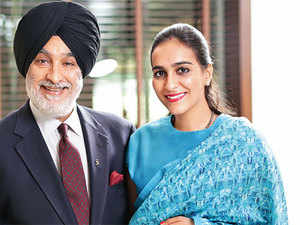 "Tara comes with a sense of gratitude and not entitlement,"" says Analjit Singh(left), chairman emeritus of the $2 billion Max Group, about his youngest daughter Tara Singh Vachani."