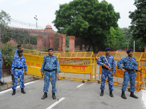 Thousands of security personnel, including 5,000 men from Delhi Police, were deployed to ensure foolproof security in and around Red Fort.