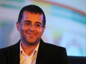 Chetan Bhagat talked about his new book, feminism and how he is not aligned with the BJP.
