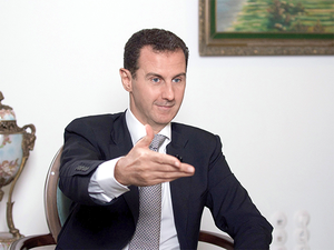 """""""As a growing power, India has a role to play in meeting the challenge of terrorism,"""" sources quoted Assad as saying."""