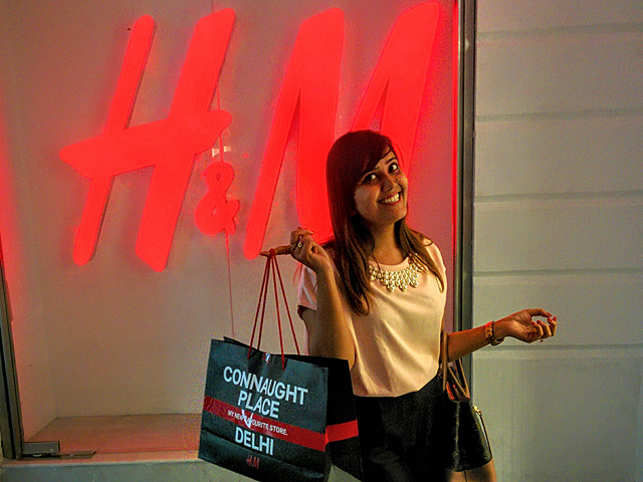 Shanu Lodha, CA IIM Udaipur at the new H&M store in Connaught Place.