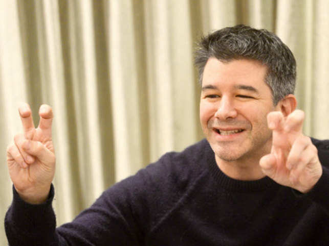 File photo of Travis Cordell Kalanick the founder of the transportation network company Uber during an interaction with TOI.