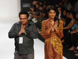 """""""As a couture and luxury pret brand, concentrating on Indian sensibilities and classical crafts,  our association would aim to create a double sided network effect by accessing more of India's heritage weaves and crafts while increasing our reach nationally and internationally thus truly setting the stage for taking Indian fashion onto a global pedestal,"""" said Mukherjee."""