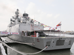 """Trade and economic ties also remain strong as both countries continue to identify new areas to work together for mutual benefit,"" India's High Commissioner to Singapore Vijay Thakur Singh said at a reception held on board Indian naval ship Satpura at the Changi Naval Base."