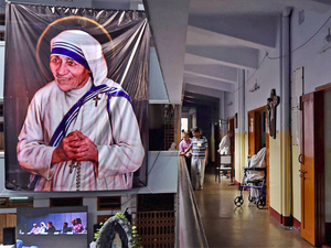 Teresa's canonisation was announced in March by Pope Francis after the Church recognised two miracles attributed to her after her death in 1997.