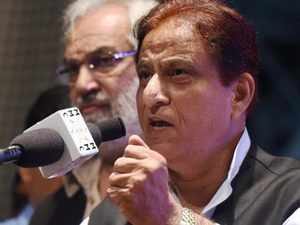 """BSP district president Virender Jatav said Azam Khan's remarks about Ambedkar were a reflection of his and SP's """"anti-Dalit mindset""""."""