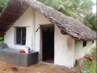 The hut was hand-built by villagers - with Smitha joining them now and then - with building materials sourced from within a 3-km radius.