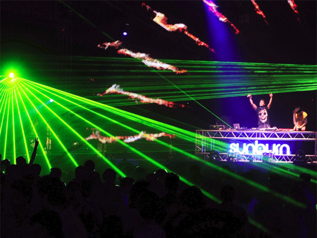 A snapshot from the Sunburn Festival, which takes place in December.