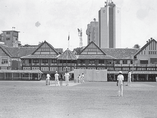 Cricket at the Bombay Gymkhana Club, undated.