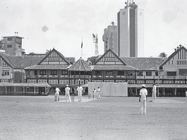 Cricket at the Bombay Gymkhana Club, undated.