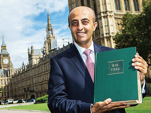 Britain's newest peer swore his oath of allegiance on an ancient book—the Rig Veda. At 46, Jitesh Gadhia is currently the youngest Briton of Indian origin in the House of Lords.