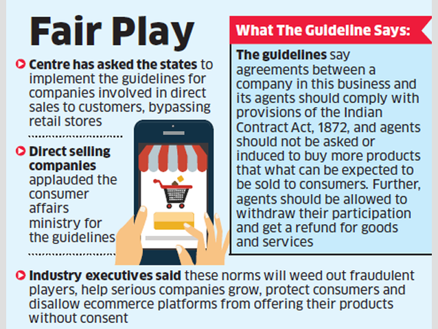 Government issues guidelines to regulate direct selling