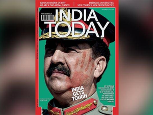 """""""The site you are trying to access contains content that is prohibited for viewership from within Pakistan. This website cannot be reached,"""" reads the page of India Today websites here. (Image source: India Today)"""