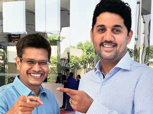"""""""Around 5% of the total transaction value is part of the ESOP pool. The employees will be paid within a year,"""" said Amrish Rau, managing director, Citrus Pay. In pic:  Jitendra Gupta (left) and Rau."""