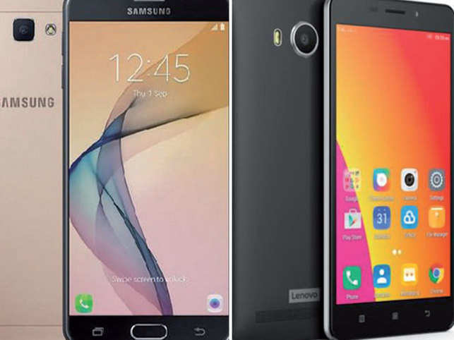 Samsung Galaxy J7 Prime and Lenovo A7700.