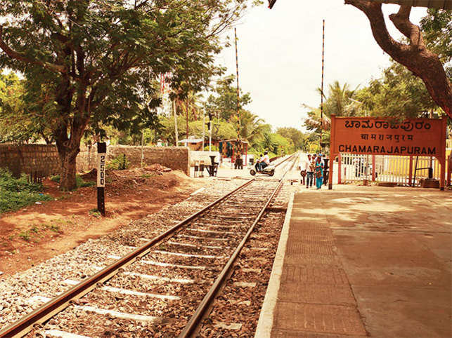 Chamarajapuram Railway Station, which is presumed to be the inspiration for the illustration of Malgudi railway station that RK Laxman did for Swamy & Friends.