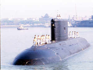 While the current Scorpene class of submarines are being built at the Mazagaon Docks in Mumbai, no decision has been taken where the more advanced diesel electric submarines will be built, under the P75i project.(File Photo)