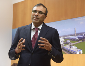 The aluminium major will now focus on reducing its leverage ratio by selling non-core assets and improving its operating profit under its new chief executive Satish Pai (seen in the picture).