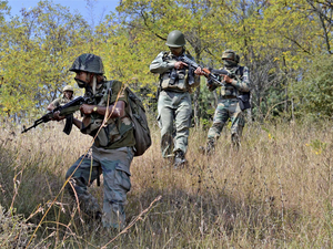 Army personnel continued their search operations in the higher reaches of Uri and Naugam sectors of Baramulla and Tangdhar districts respectively.