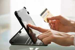 You can use a mobile app equipped with sound-based payments technology by placing your phone near the merchant's device.