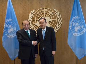 Ban Ki-moon met with Nawaz Sharif at the United Nations yesterday on the margins of the 71st Session of the UN General Assembly.