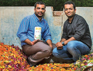 In 2014, egged on by their NRI friends and their inner voices, Ankit Agarwal and Karan Rastogi decided to quit the corporate treadmill to give shape to HelpUsGreen. (In pic:  Ankit Agarwal, 26 and Karan Rastogi, 28)