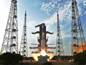 Filephoto of  ISRO's GSLV-F05 carrying INSAT-3DR taking off.