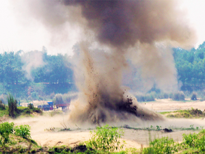 A snapshot from the 2014 Khagragarh blast.