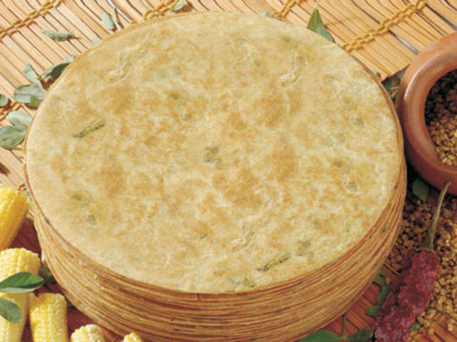 The flattened, chapati-like cracker made with wheat flour is a staple snack in Gujarati & Jain homes, usually devoured at breakfast packs.