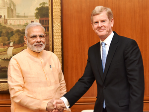 David Taylor on Tuesday met Prime minister Narendra Modi to discuss manufacturing initiatives.